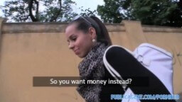 Rychlé prachy – slovenská kráska šuká za peniaze porno video