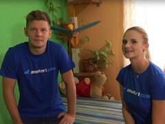 Českí amatéri sa pochválili sexom pred kamerou porno video